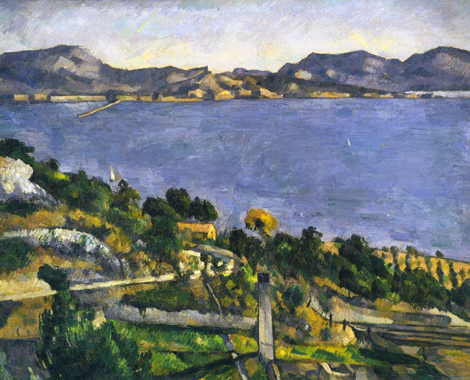 Il golfo di Marsiglia dalla veduta dell'Estaque - 1878 - Cezanne - The Gulf of Marseilles from L Estaque - also called - L Estaque