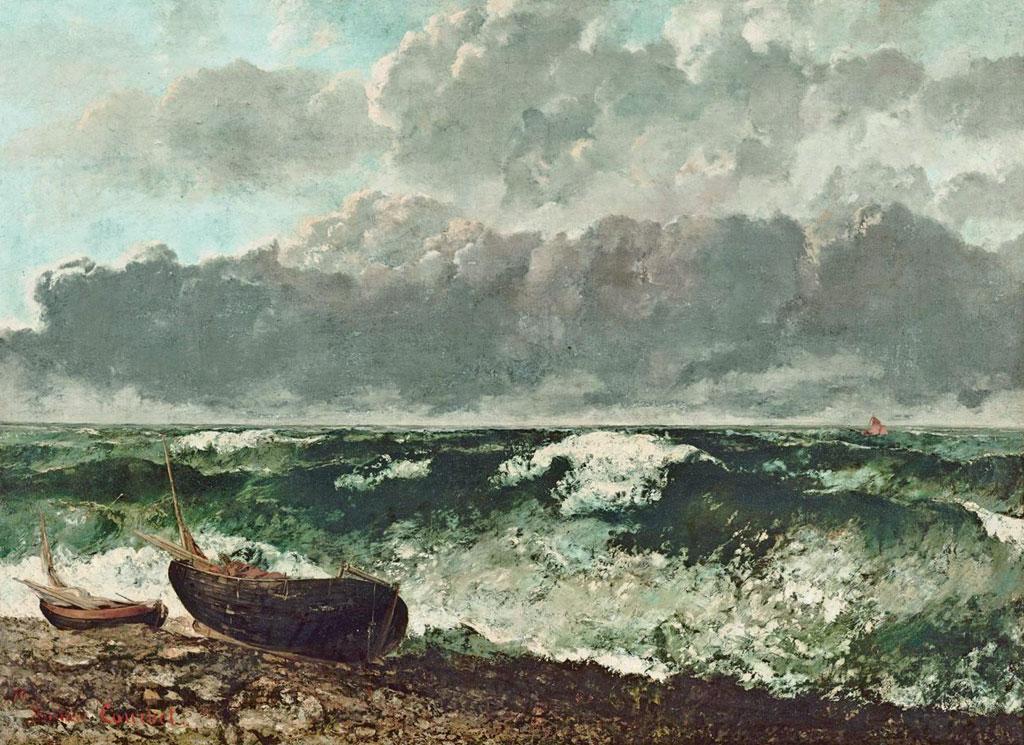 Top Il mare in burrasca detto anche L'onda (opera di Courbet) ZR83