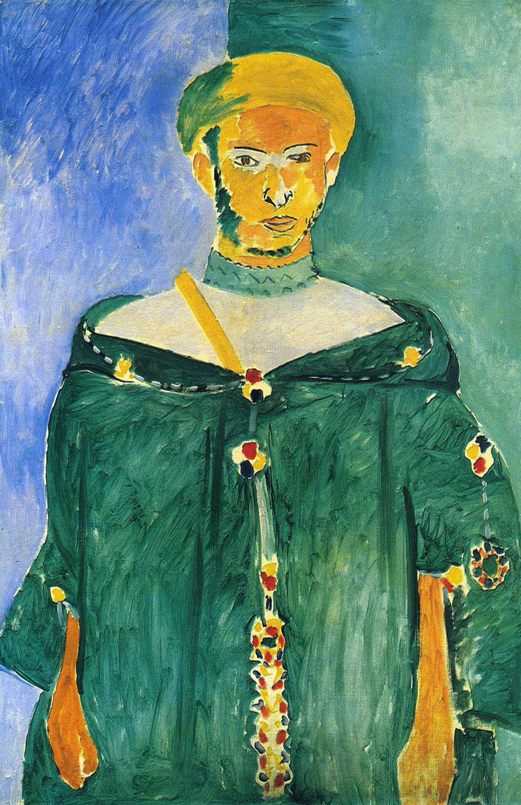 Riffano in piedi - Standing Riffian - Marocchino in verde - Standing Moroccan in green - Matisse - 1913