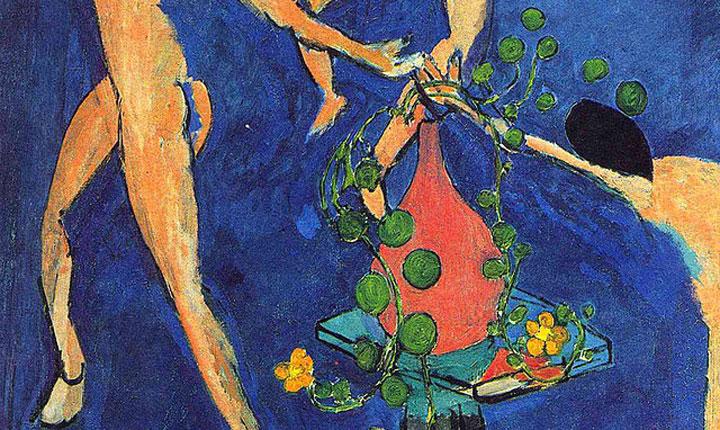Vaso di nasturzi e La Danza - Matisse - dettaglio del vaso