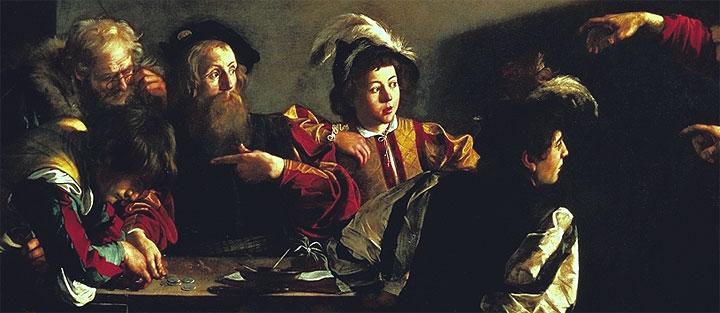 Vocazione di San Matteo - dettaglio