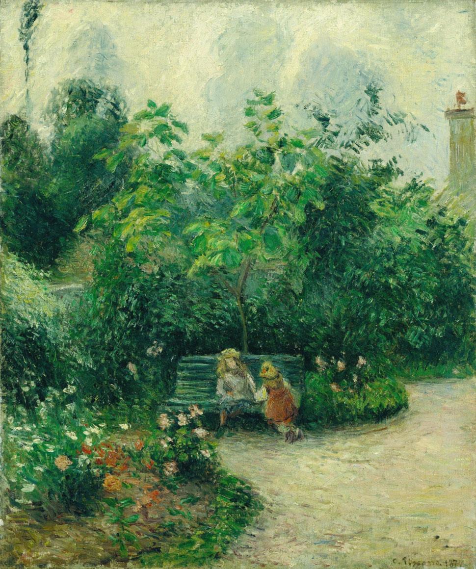 Angolo di giardino all'Hermitage (1877 – quadro famoso di Camille Pissarro)