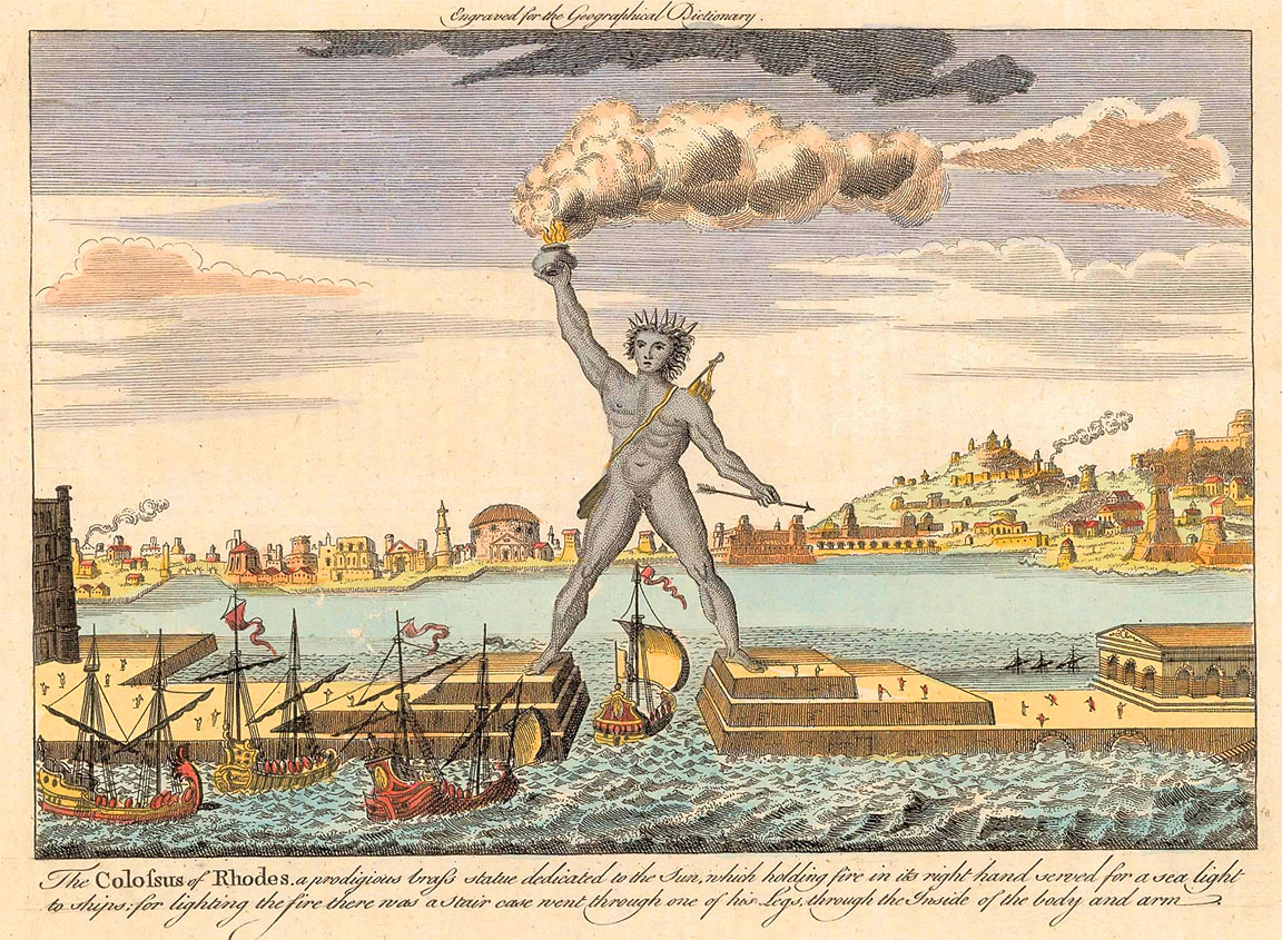 Colosso di Rodi incisione 1790