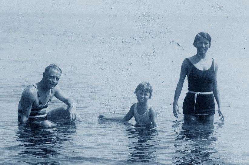 Francis Scott Fitzgerald con Scottie e Zelda