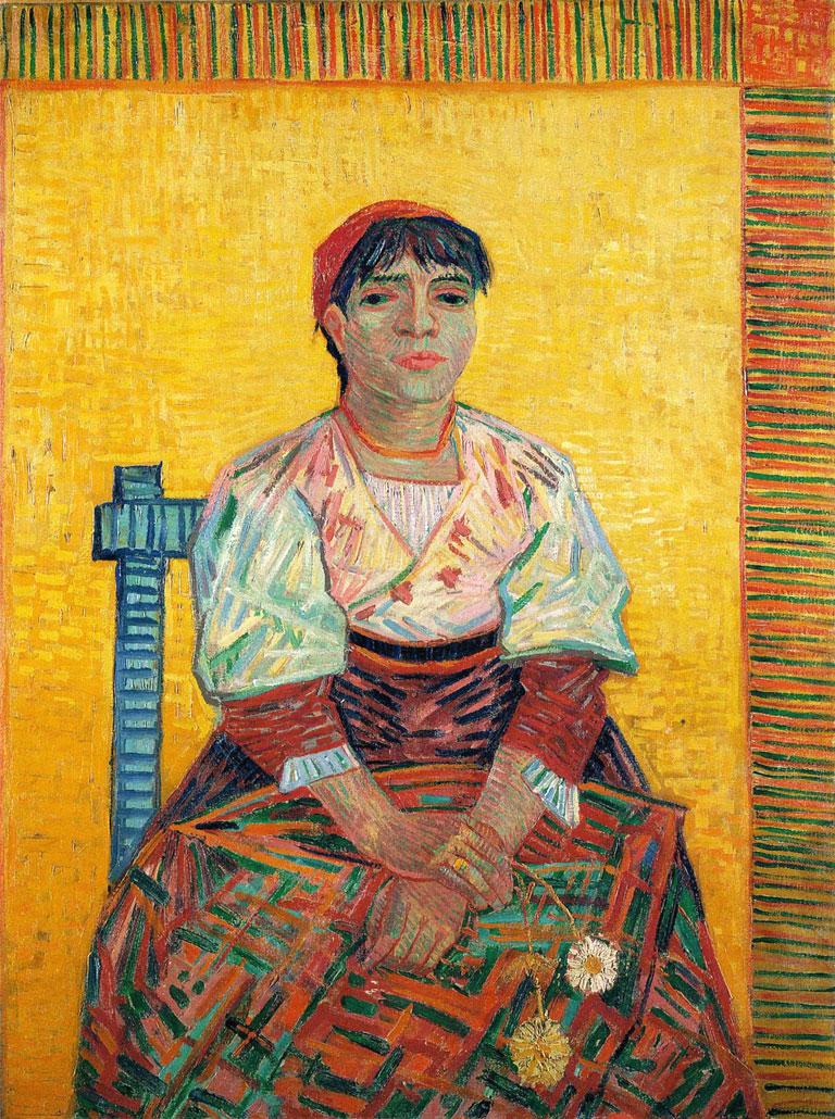 La italiana - The Italian woman - L Italienne - Agostina Segatori - quadro - picture - Van Gogh - 1887