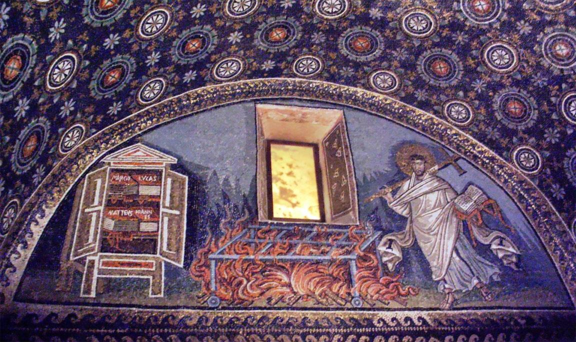 Mausoleo di Galla Placidia - Lunetta musiva di San Lorenzo - Ravenna