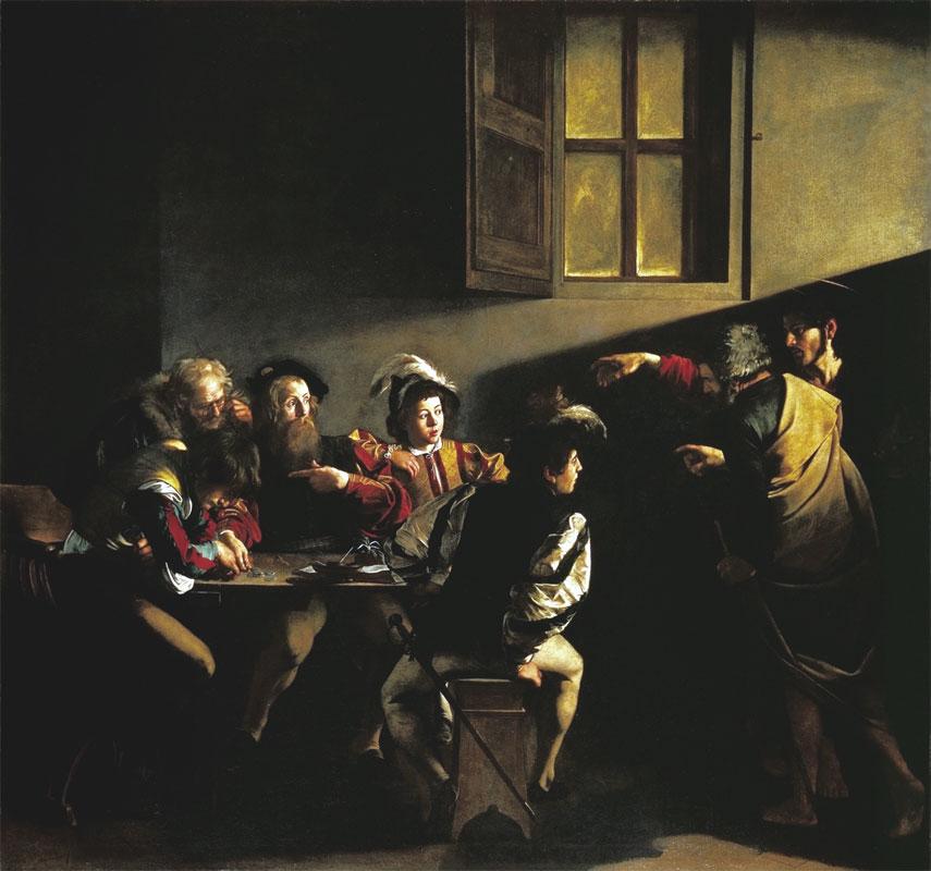Vocazione di San Matteo - Michelangelo Merisi da Caravaggio - 1599-1600