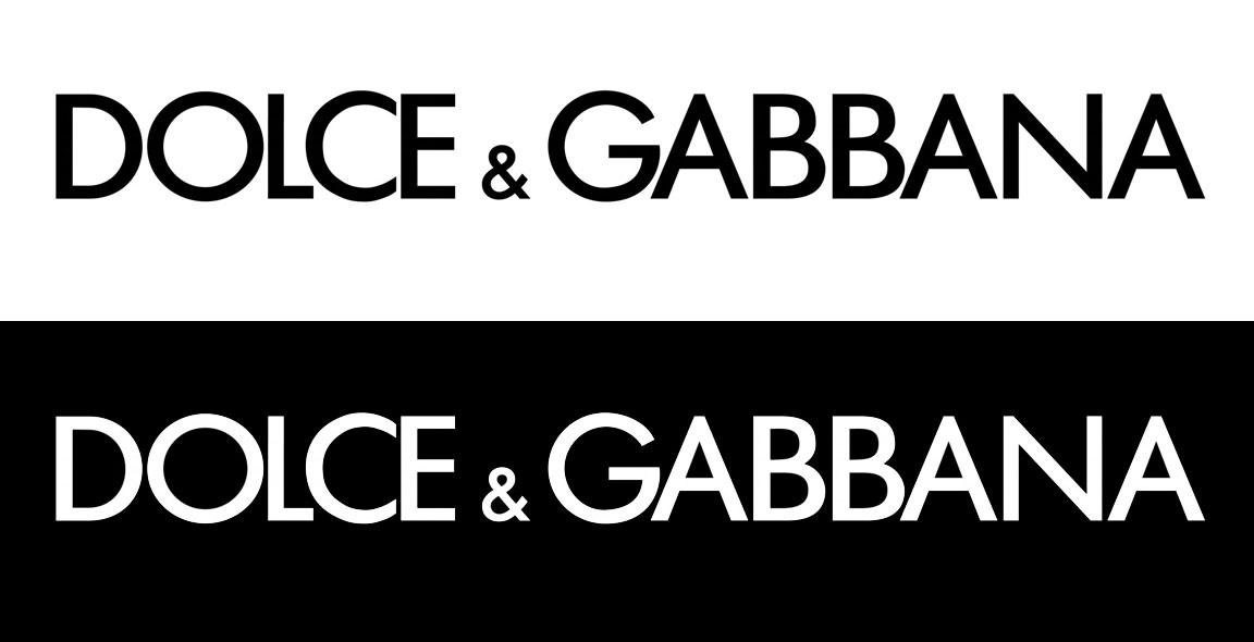 Dolce e Gabbana Logo bianco, Dolce & Gabbana logo nero