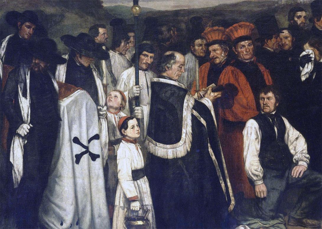 Funerale a Ornans - un dettaglio del dipinto