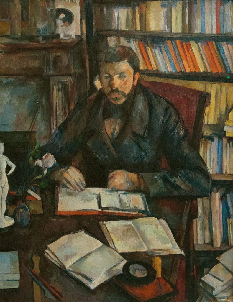 Ritratto di Gustave Geffroy, di Cézanne