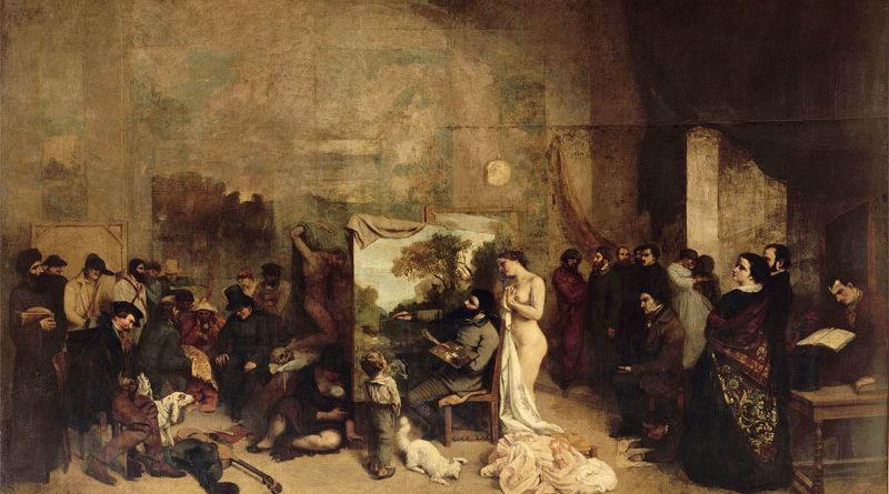 La bottega del pittore - Atelier del pittore - quadro di Courbet