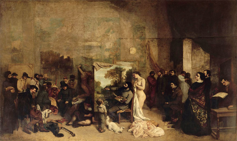 La bottega del pittore (Atelier del pittore, Atelier du peintre - quadro di Courbet)