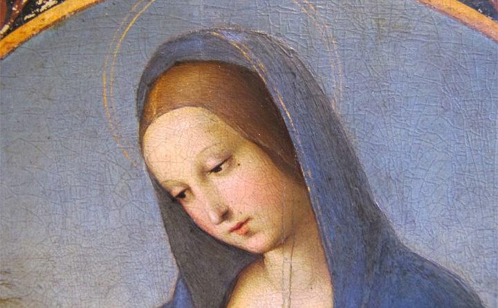 Madonna Conestabile - Raffaello - dettaglio del viso