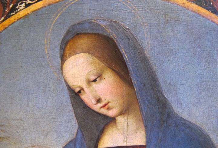 Constable Madonna - Raphael - el detalle de la cara