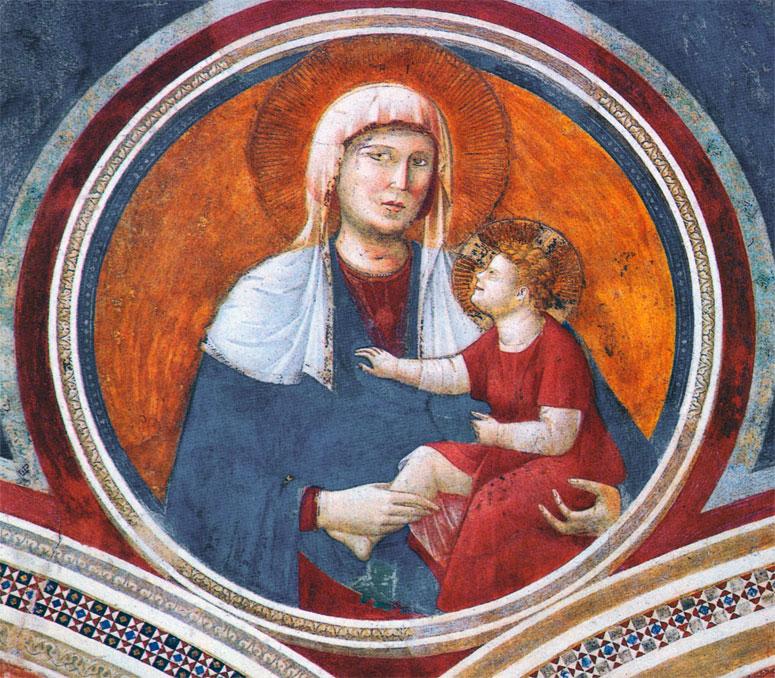 Madonna col Bambino ridente (affresco di Giotto)