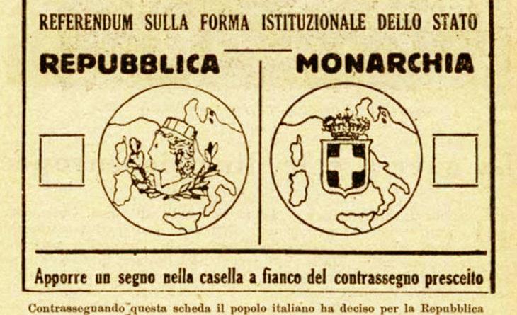 Nascita della Repubblica - Referendum 2 giugno 1946