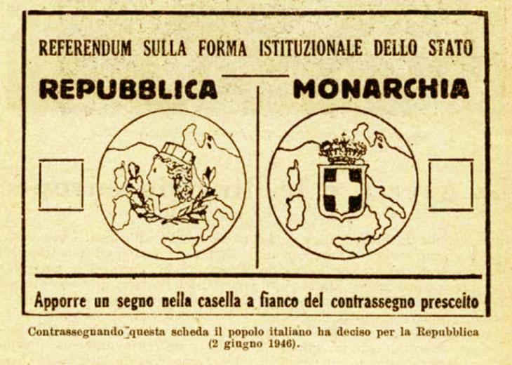 Nascita della Repubblica Italiana - Referendum 2 giugno 1946
