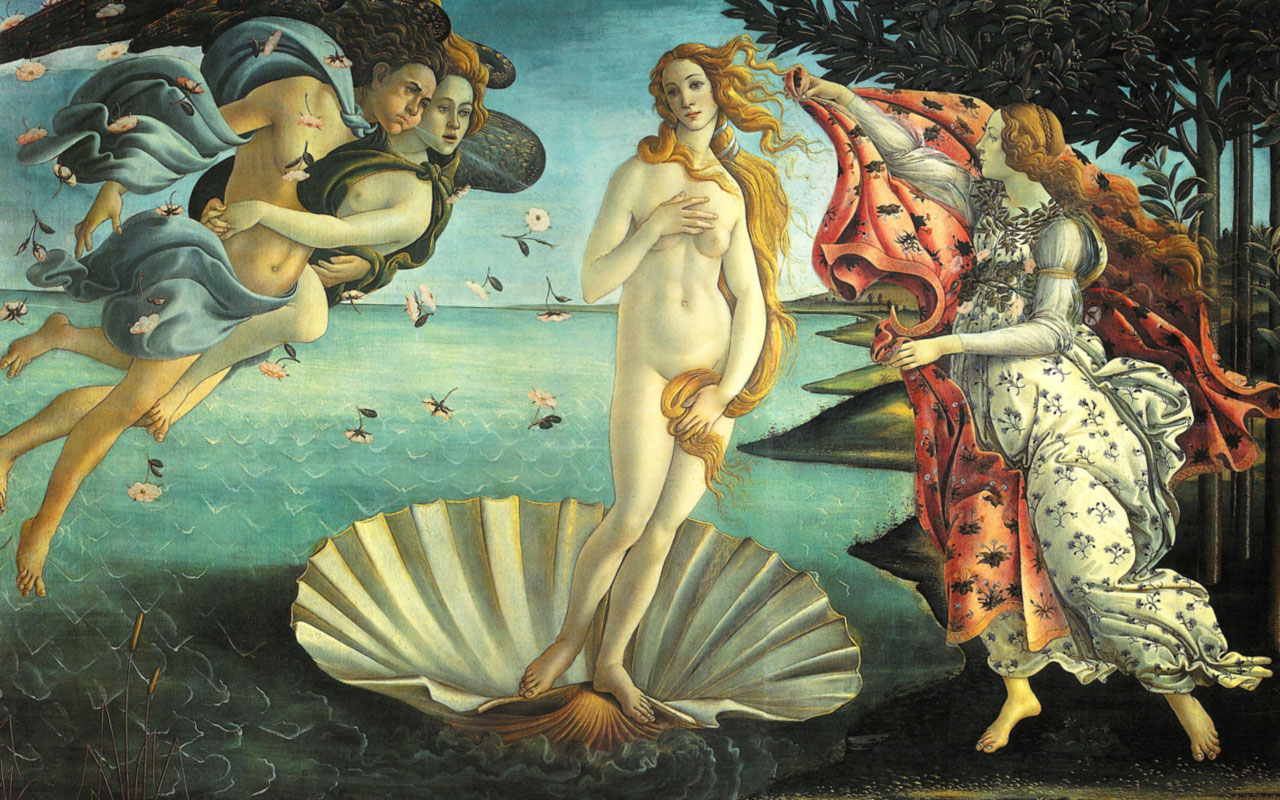 Nascita di Venere (Venere di Botticelli, Birth of Venus)