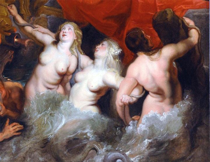 Sirene (dettaglio del quadro: Arrivo della regina a Marsiglia)
