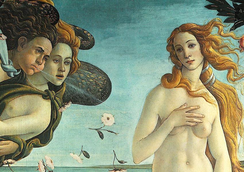 Un dettaglio della Nascita di Venere (Venere di Botticelli)