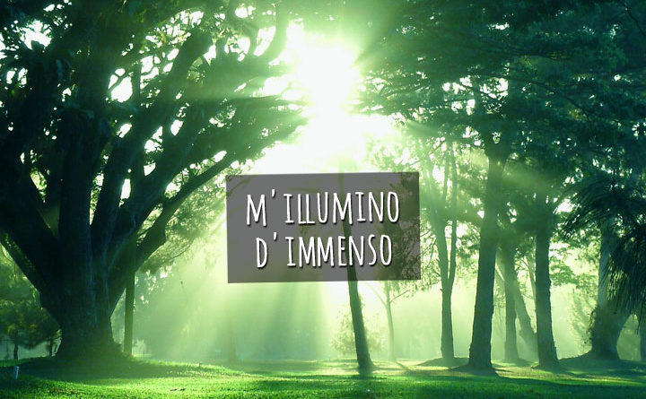 Mattina, M'illumino d'immenso.