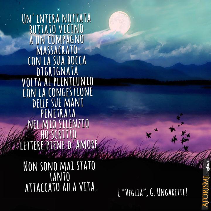 Veglia, poesia di Giuseppe Ungaretti