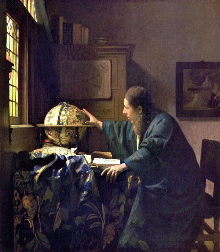 Astronomo - quadro - dipinto di Jan Vermeer