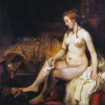 Betsabea con la lettera di David - Bathsheba at Her Bath - Rembrandt