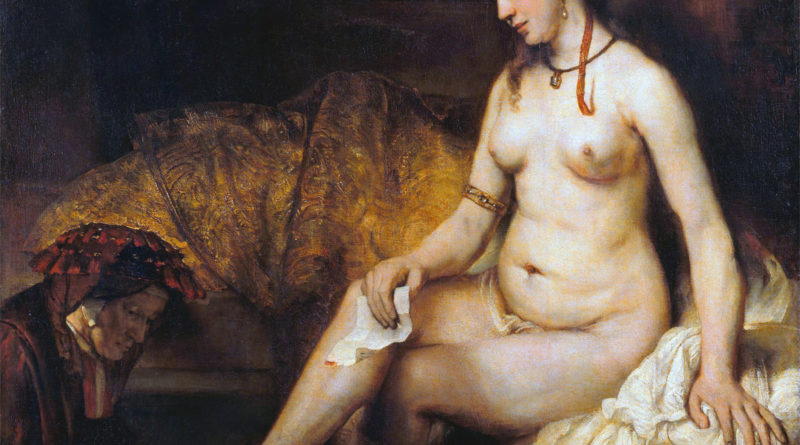 Betsabea con la lettera di David - Bathsheba at Her Bath - Rembrandt