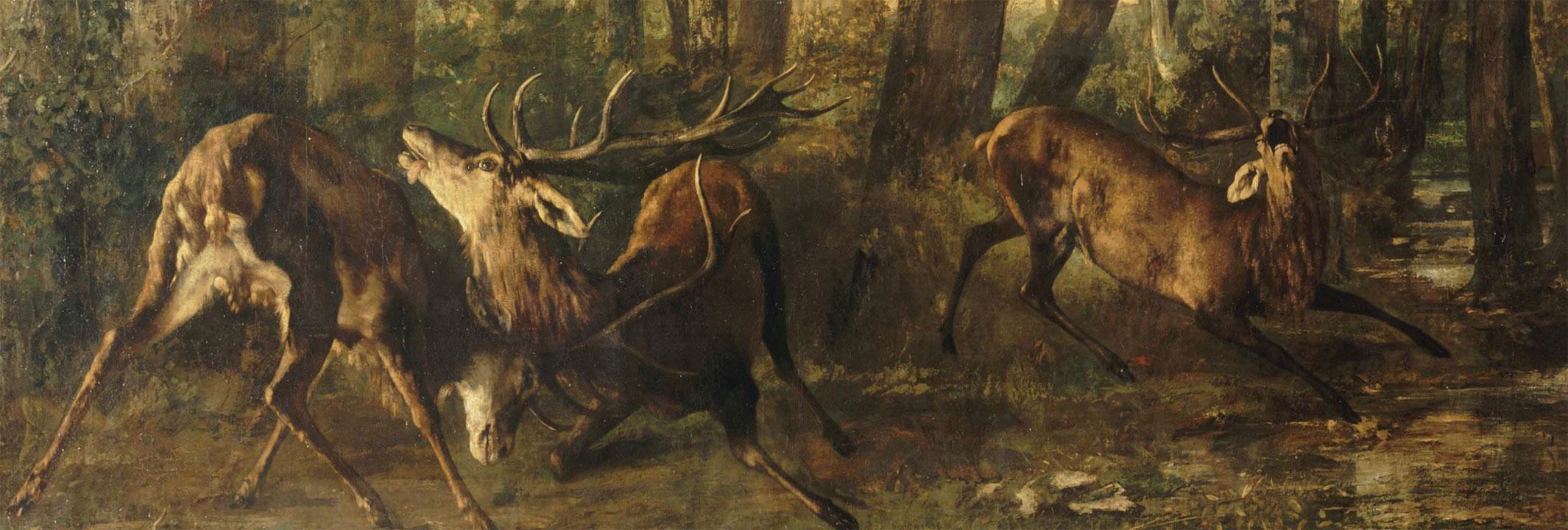 Fregola primaverile. Combattimento di cervi (quadro di Courbet)