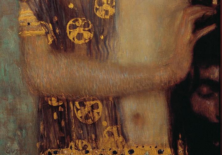 Giuditta I - Klimt - dettaglio della testa di Oloferne