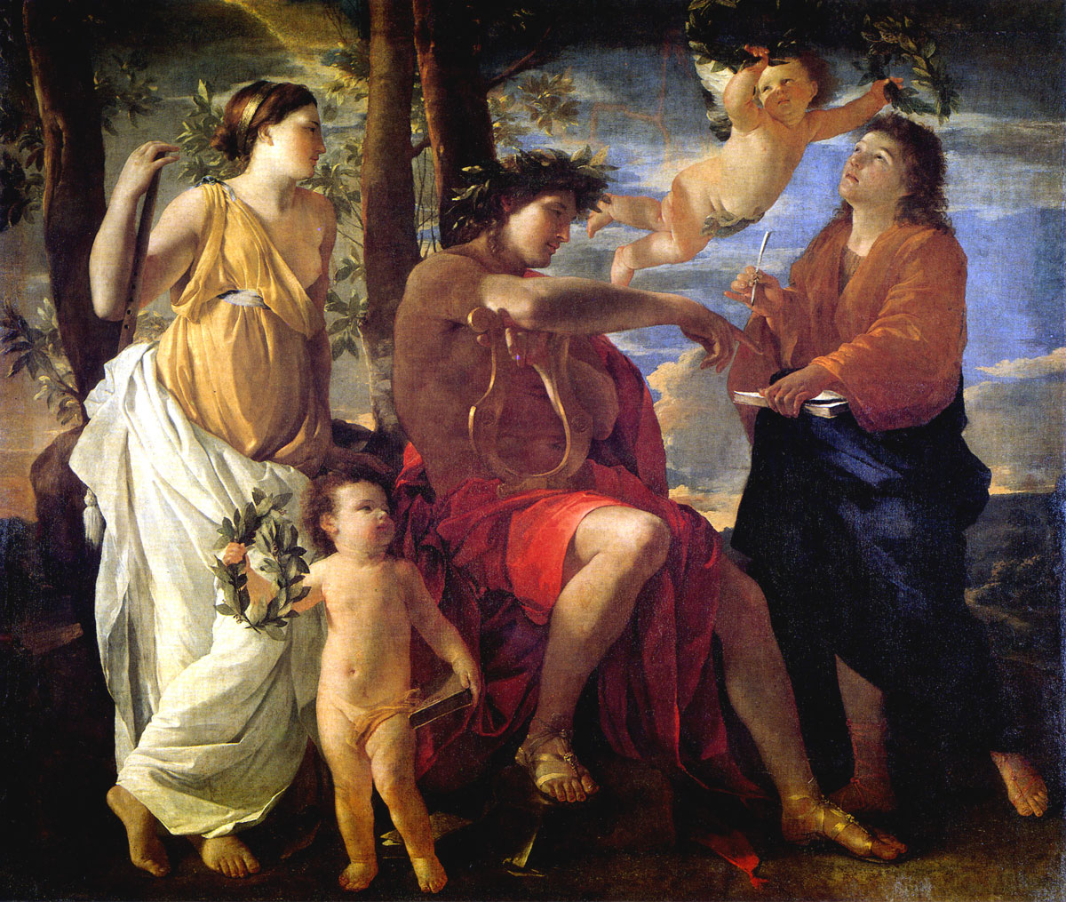 Ispirazione del poeta - Poussin - Inspiration of the poet