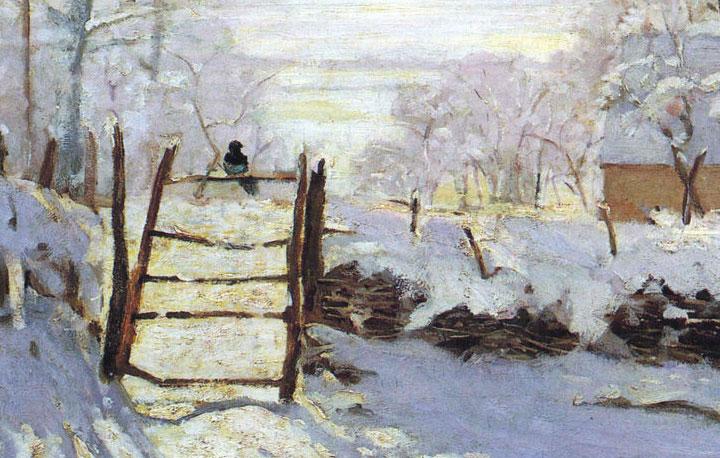 La Gazza - quadro di Monet - dettaglio