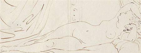 La dormiente di Napoli - Disegno