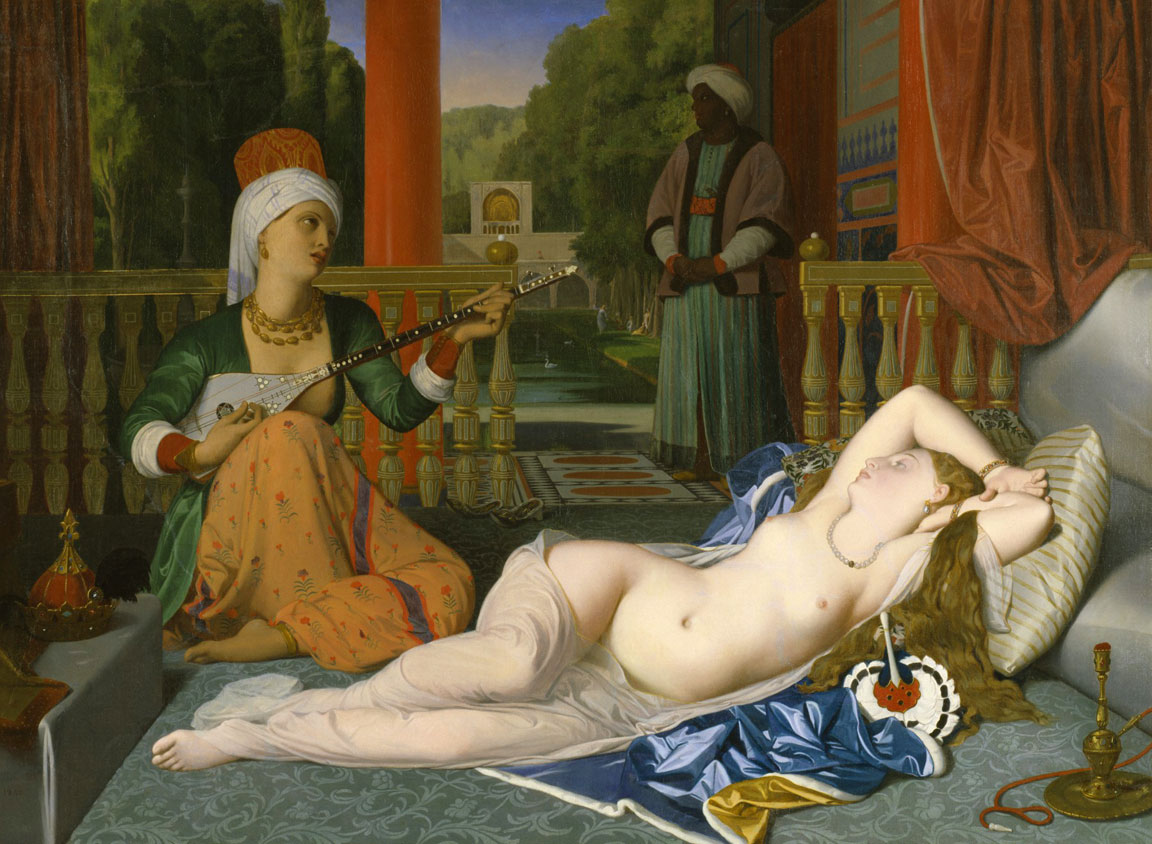 Odalisca con schiava - Ingres - Odalisque with slave