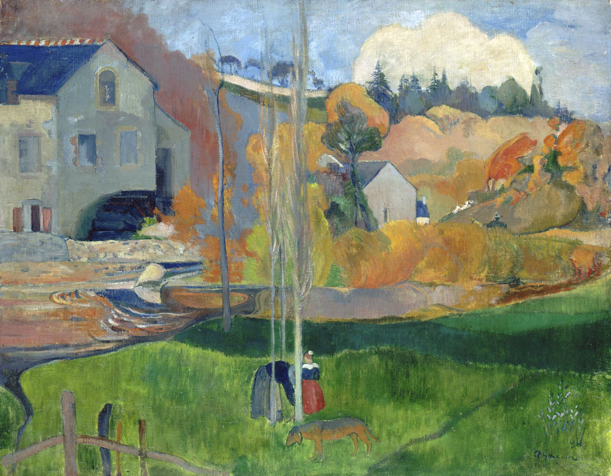 Paesaggio bretone - Mulino David - quadro di Gauguin - Brittany Landscape - David Mill