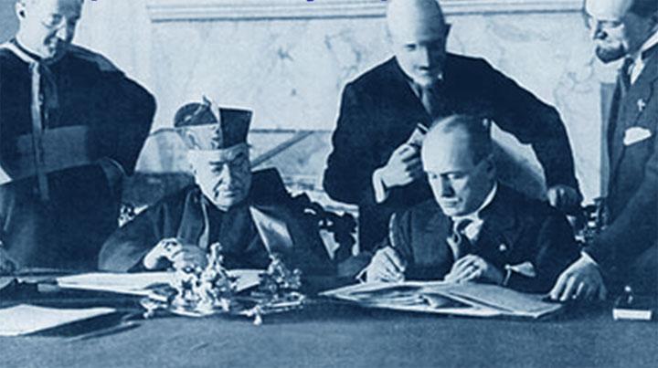 Patti Lateranensi - firma di Benito Mussolini