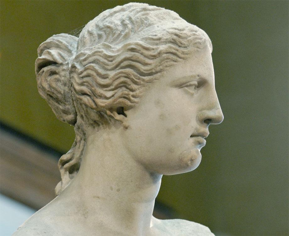 Venere di Milo - dettaglio del volto
