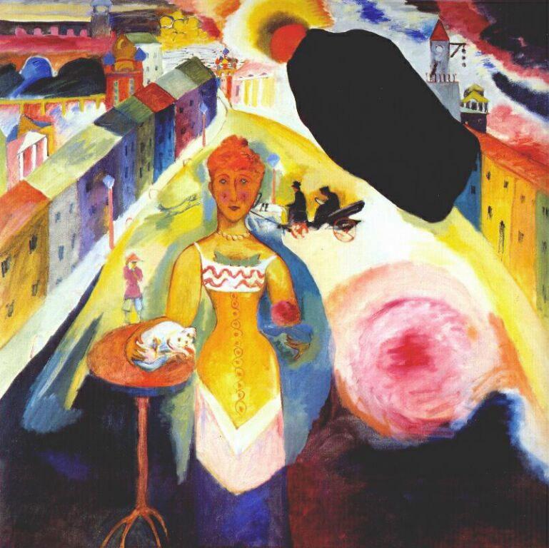 Dama a Mosca - Kandinsky - Lady in Moscow