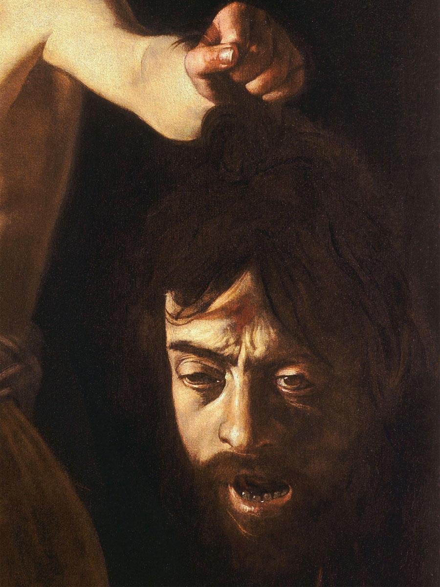 Golia - Davide con la testa di Golia - dettaglio