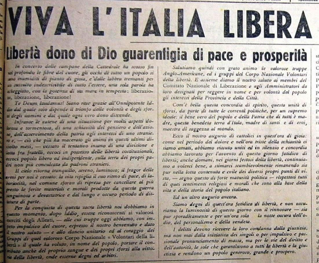 La liberta di stampa dopo il fascismo