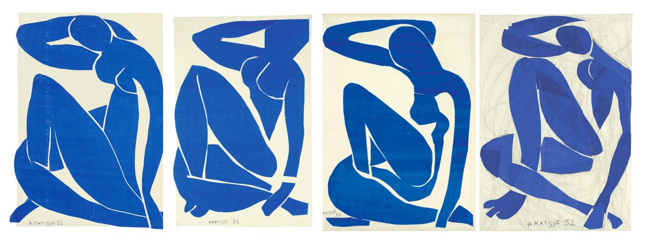 """La serie """"Nudi Blu"""" di Henri Matisse"""