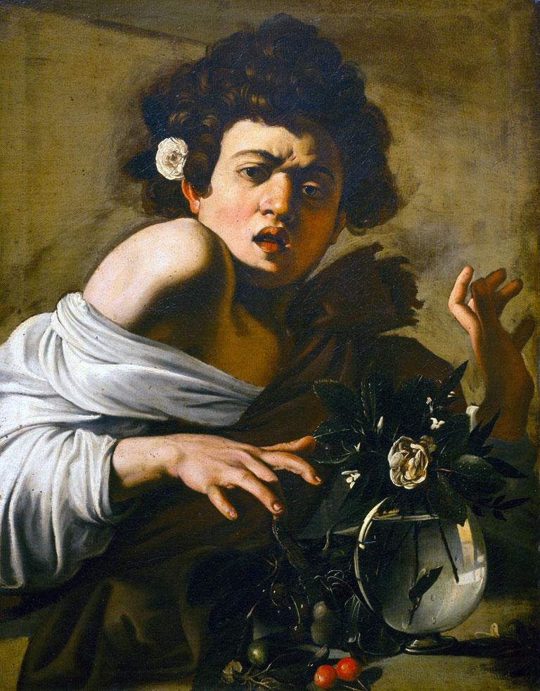 Ragazzo morso da un ramarro - Caravaggio - quadro - dipinto - opera