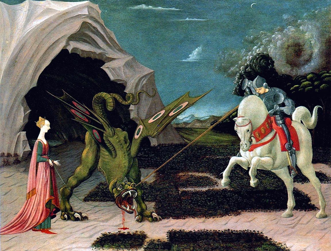 Legenda Aurea: San Giorgio e il Drago - Paolo Uccello