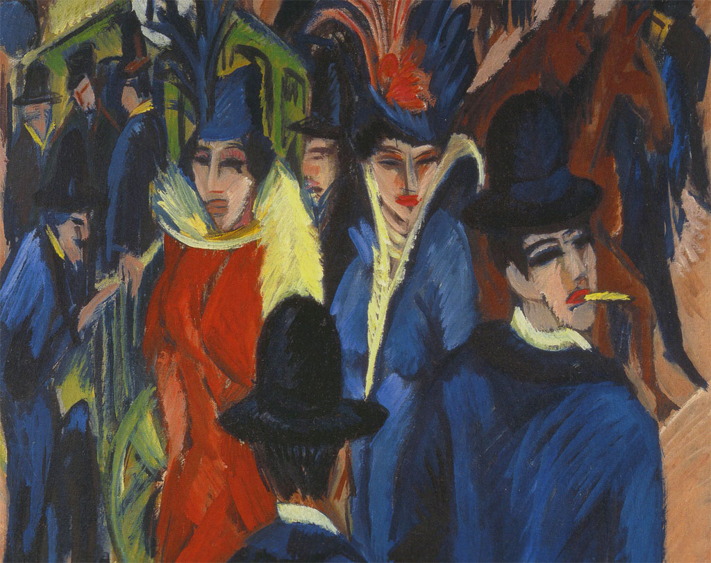 Espressionismo: scena di strada berlinese - dettaglio - quadro - Kirchner