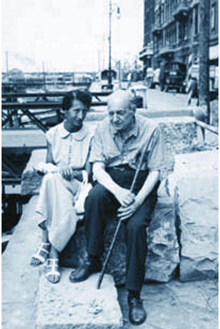 Umberto Saba con la moglie Lina