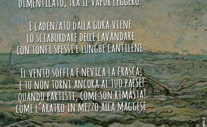 Lavandare - testo della poesia di Giovanni Pascoli