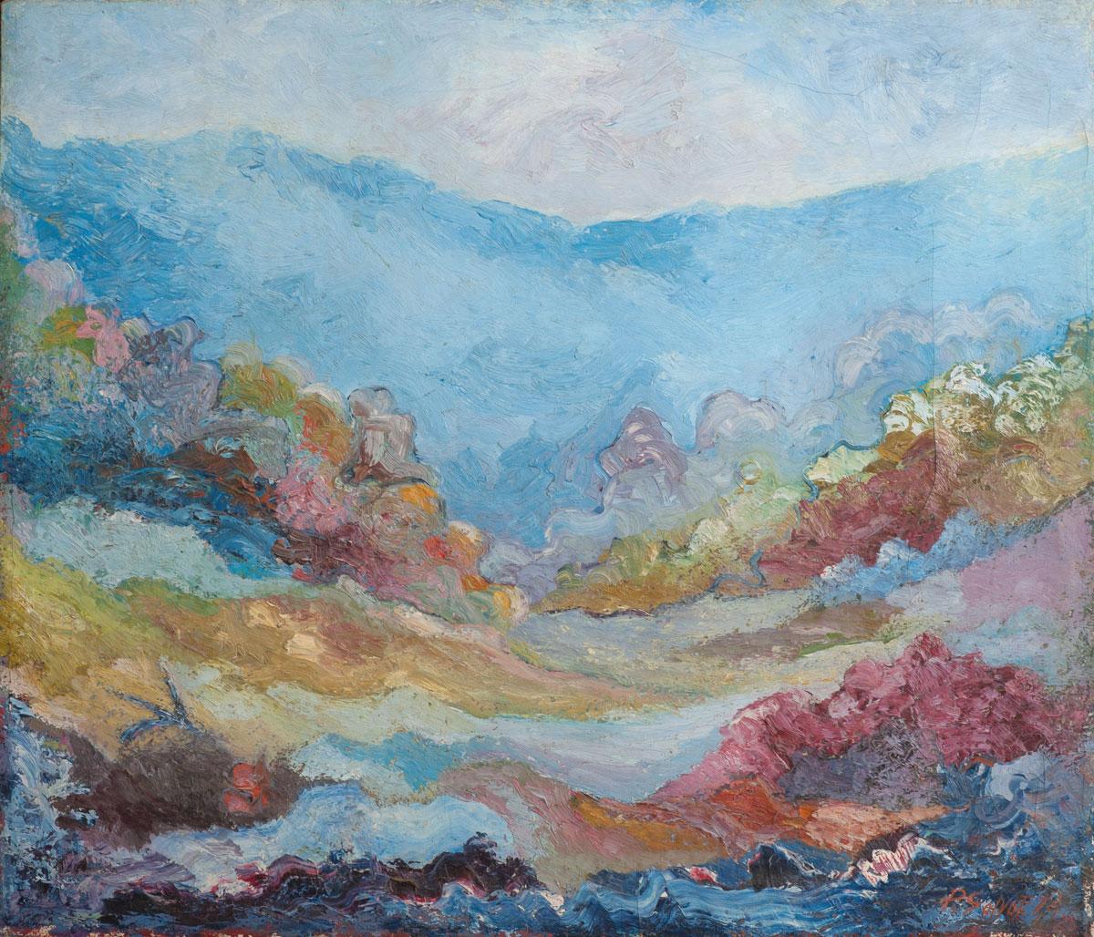 Evasione di un Artista - Olio su Tela - 1974 di Paolo Salvati