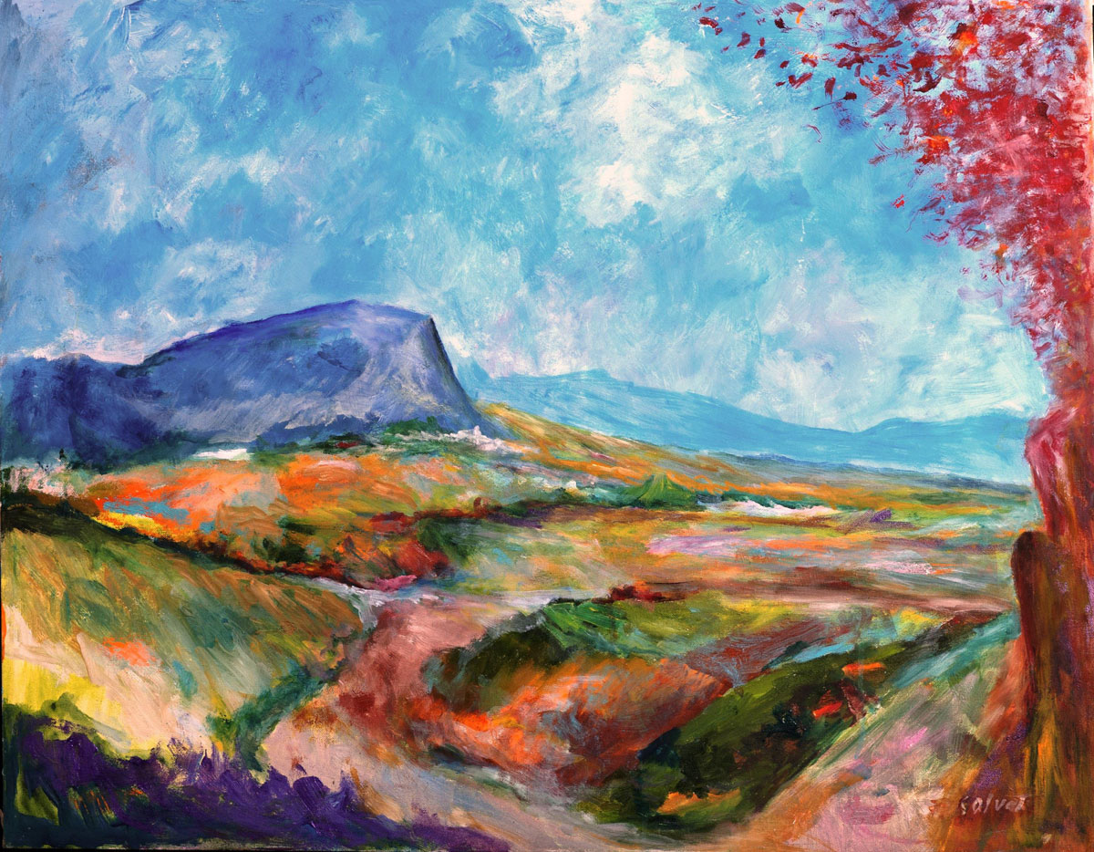 Montagna Blu su Fronde Rosse