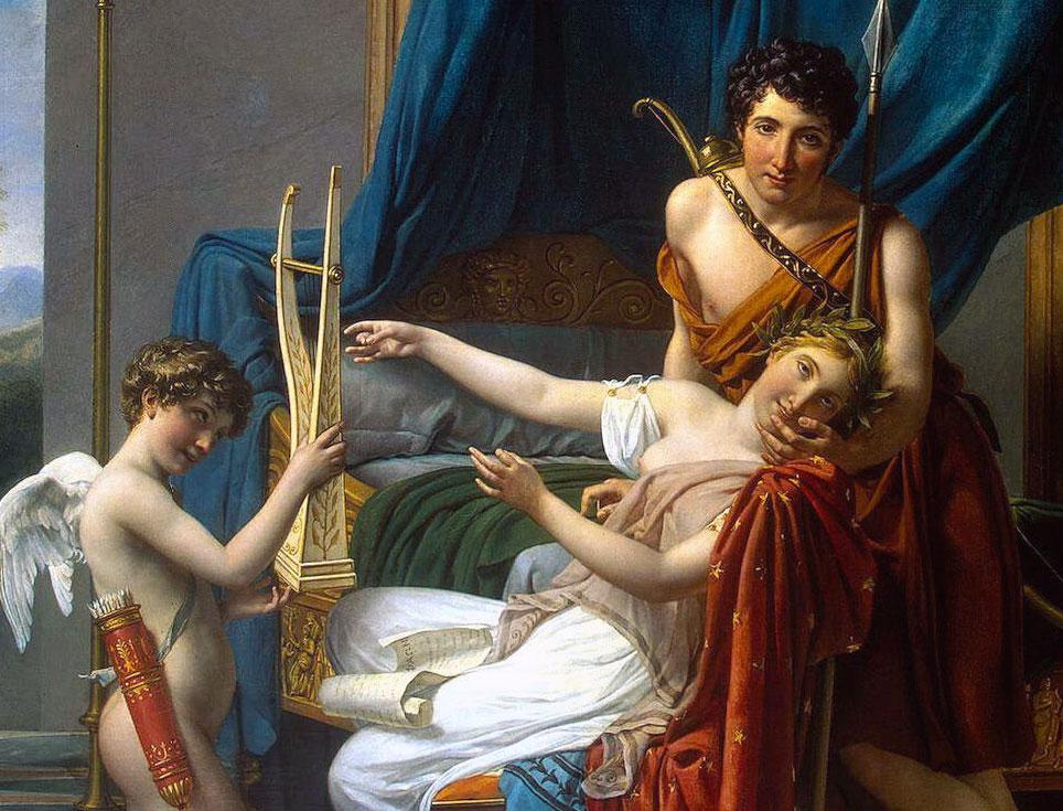 Neoclassicismo e Arte Neoclassica: Saffo e Faone - dettaglio del quadro